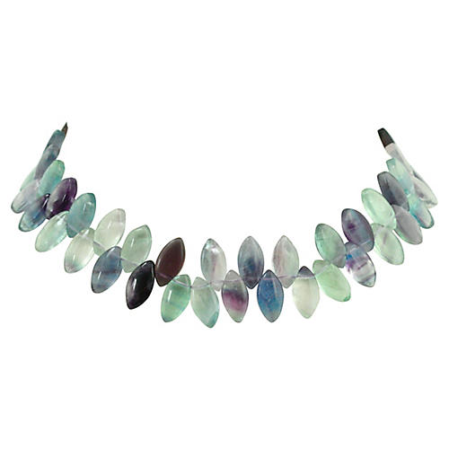 Fluorite Petal Necklace