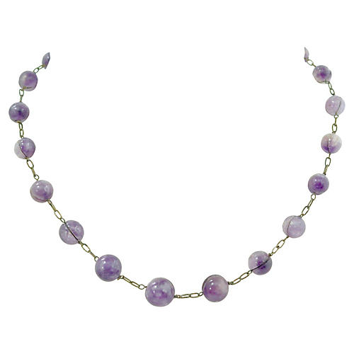 Chinese Amethyst Pools Of Light Necklace