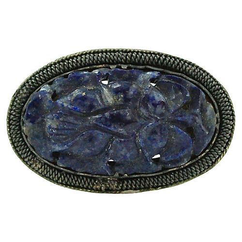 Chinese Lapis Lazuli Fur Clip C.1920