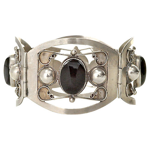 Mexican Faceted Onyx Bracelet