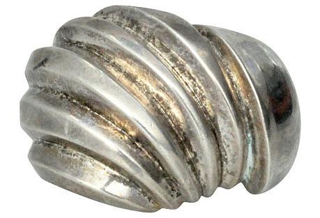 Heavy Sculptural Silver Cuff