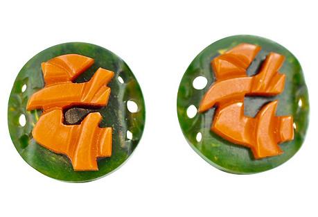Chinoiserie Bakelite Earrings