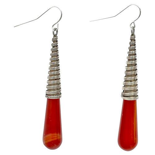 Modernist Carnelian Earrings