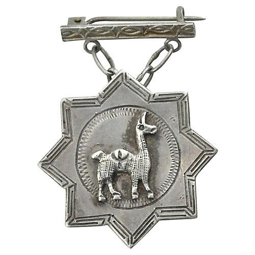 Peruvian Locket Brooch