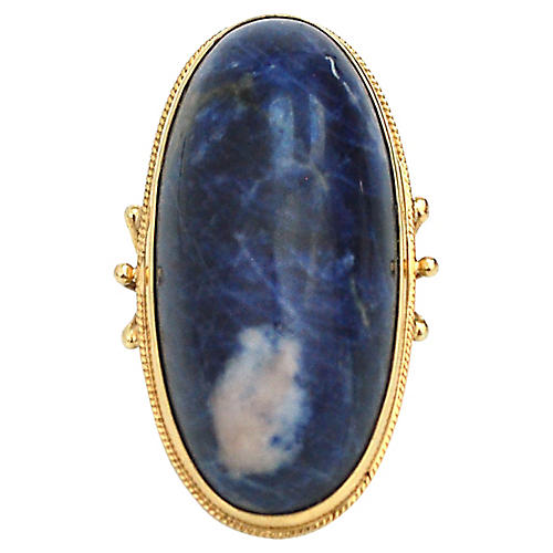 18K Gold & Sodalite Cocktail Ring