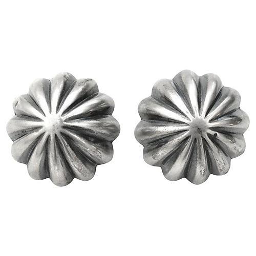 Spanish Scalloped Dome Earrings