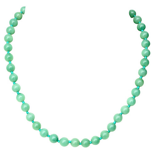 Chinese Green Quartz Necklace