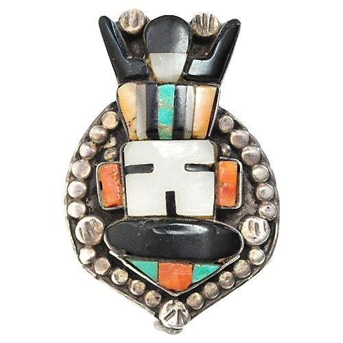 Zuni Sunface God Ring