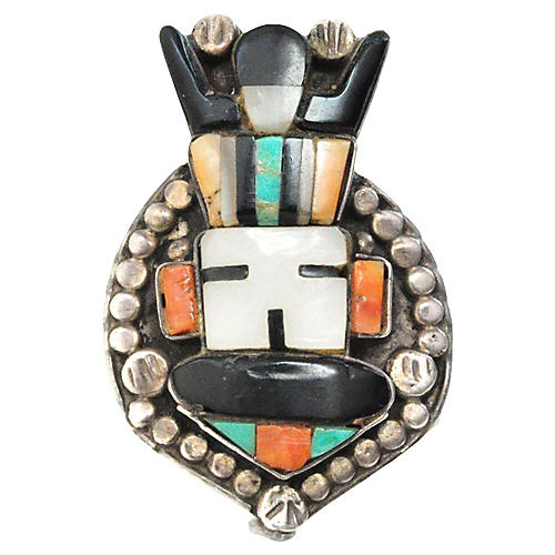 Zuni Sunface God Ring
