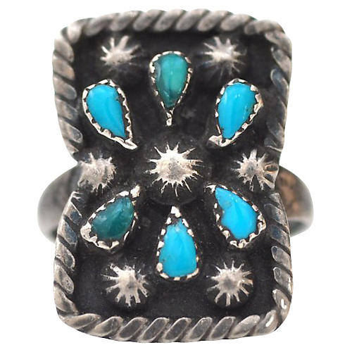 Turquoise Constellation Ring