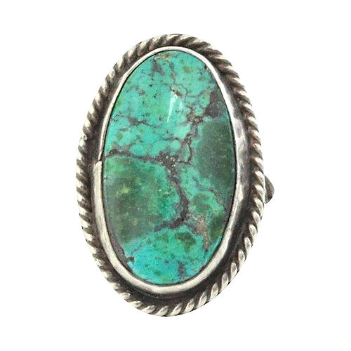 1970s Turquoise Oval Ring