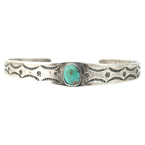 1930s Fred Harvey Turquoise Cuff