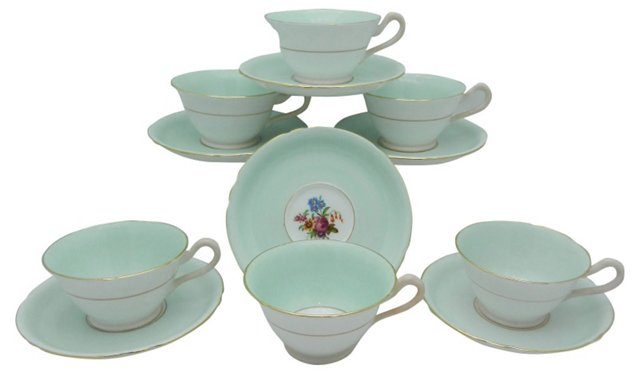 Copeland Cups & Saucers, Set of 6