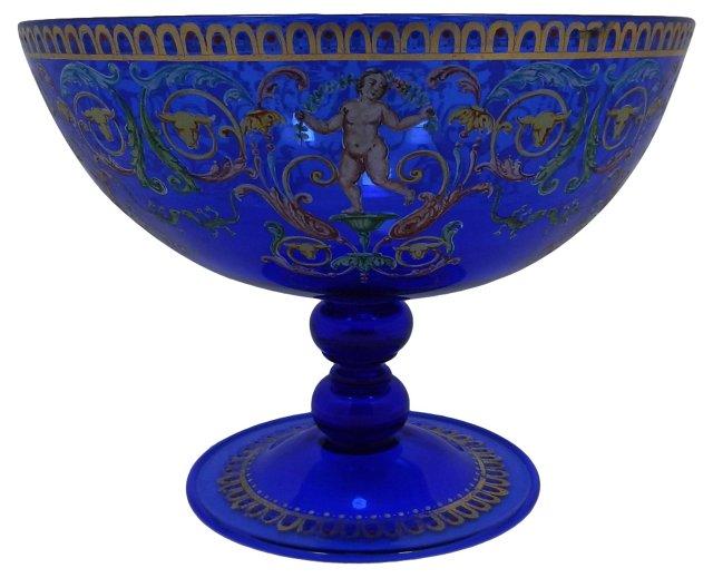 Venetian Enameled Glass Bowl