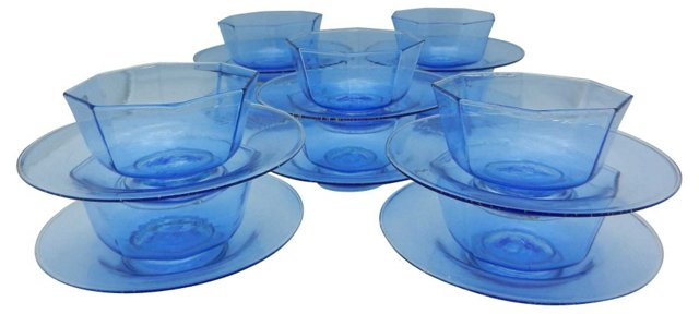 Venetian Bowls & Under-Plates, Set of 10