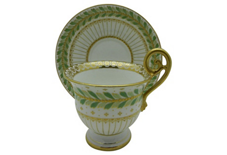 Stunning French Cup & Saucer