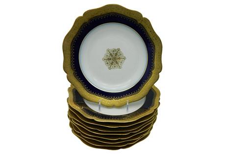Limoges Porcelain Plates, S/9