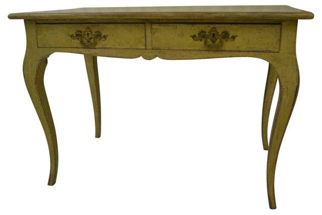 19th-C. Swedish Yellow Desk