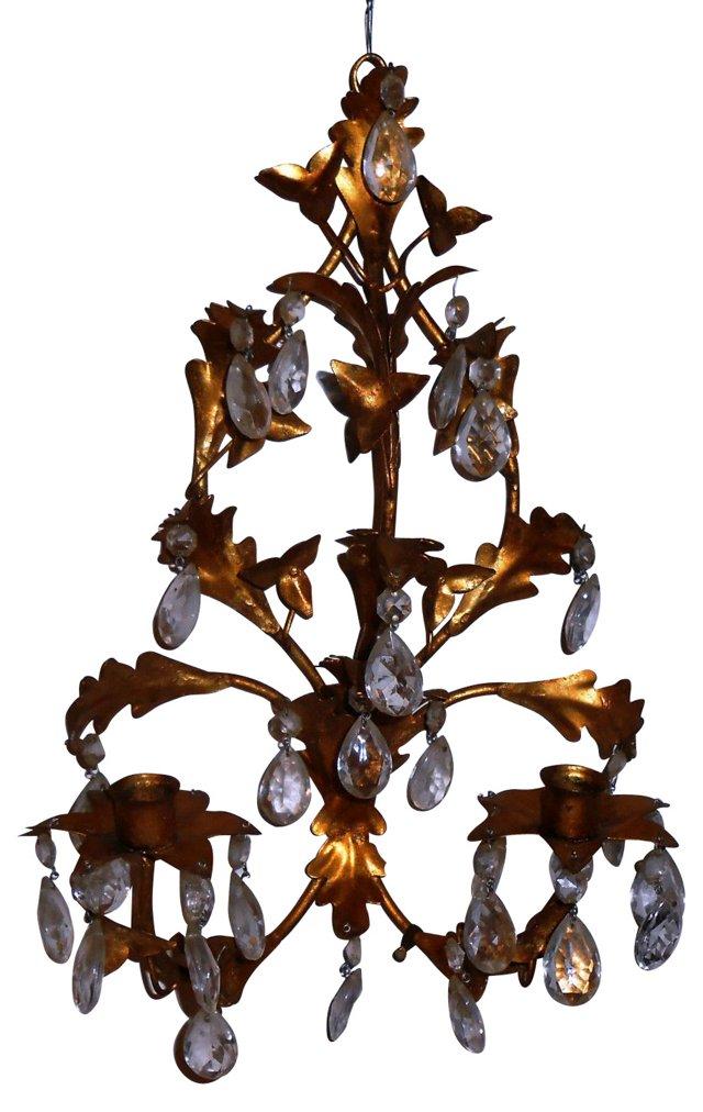 Gilt Metal Italian Candle Sconce