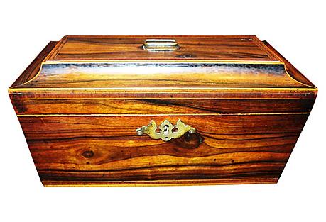 19th-C. Regency Tea Caddy