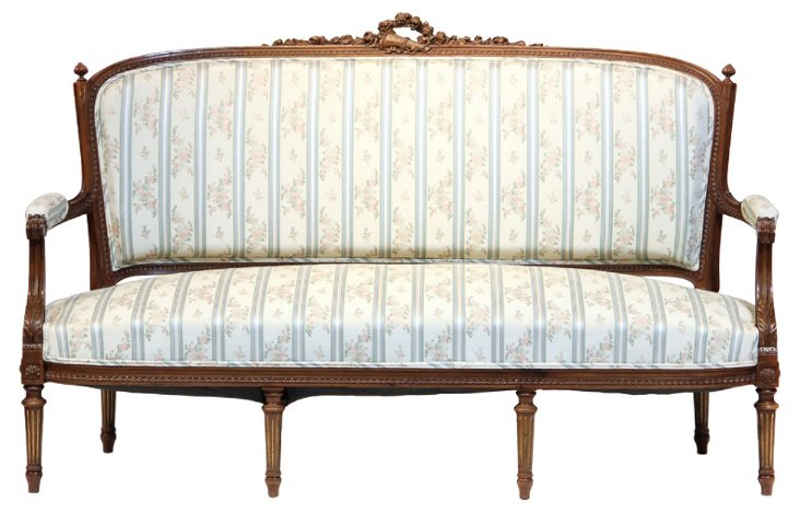 French Louis XVI-Style  Settee