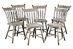 19th-C. American Windsor Chairs, S/6