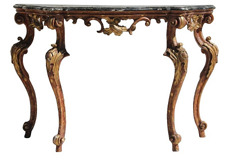 French Giltwood Rococo Console