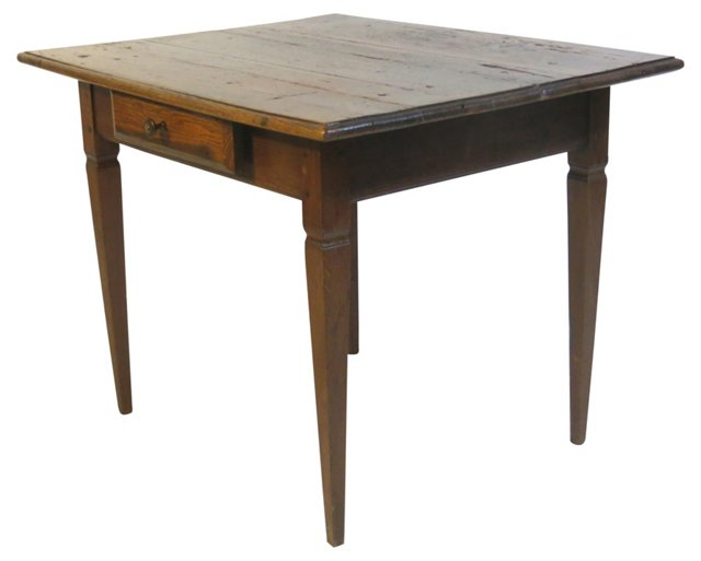 18th-C. French Single-Drawer Table