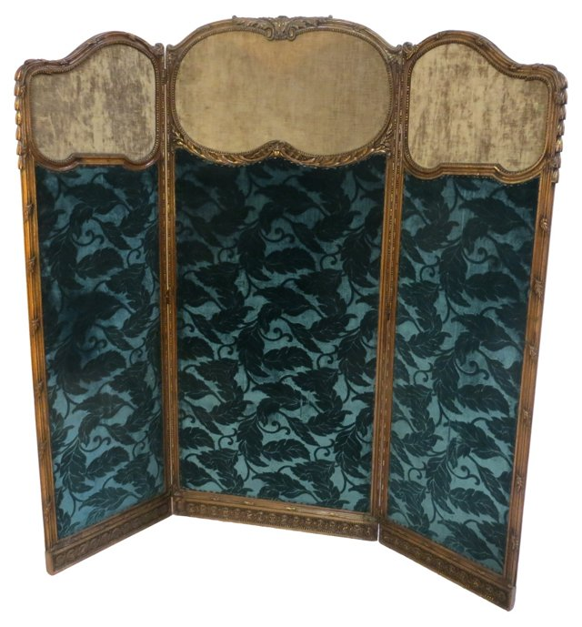 19th-C. French 3-Panel Screen