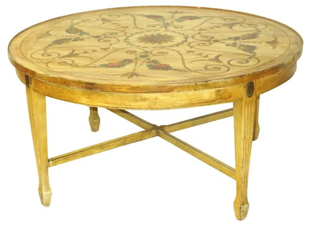 Hand-Painted Italian Coffee Table