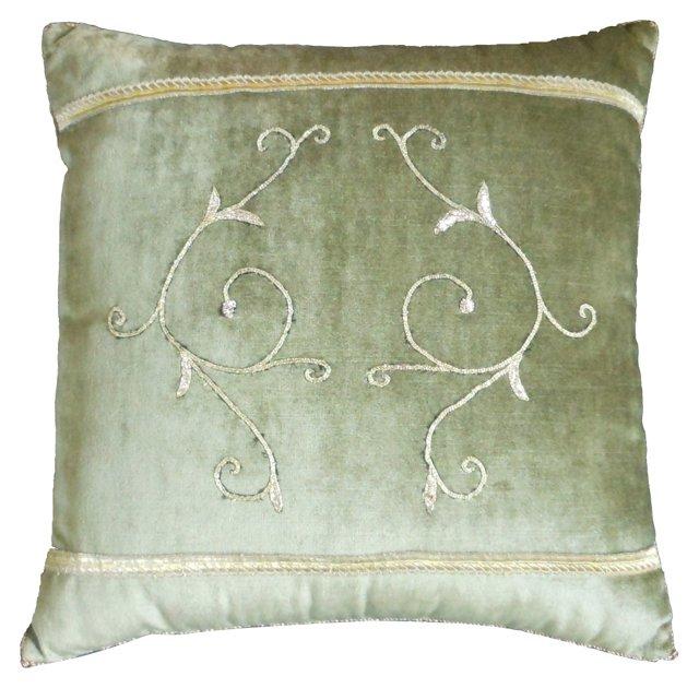 Pillow w/ Antique Gold Filigree