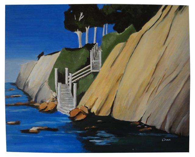 High Tide Laguna Cliffs by Anna Pap