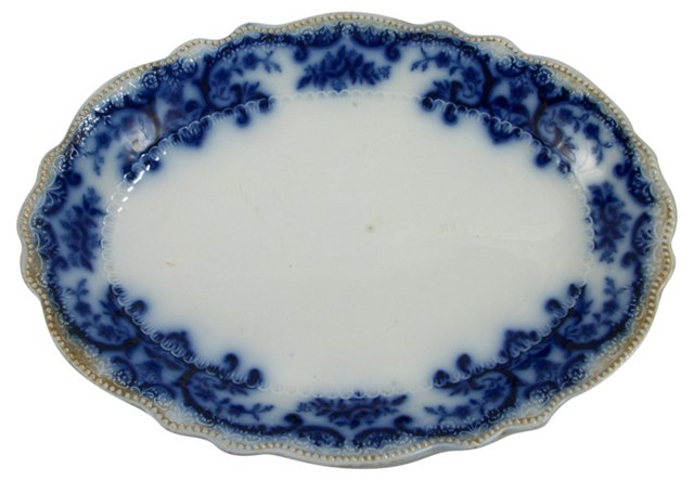 Portman by Grindley Flow Blue Platter