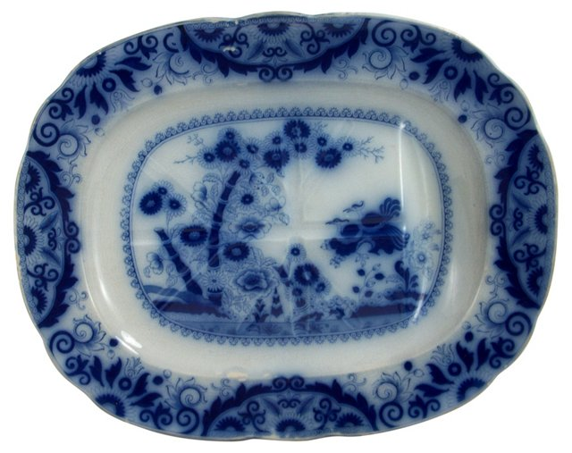 Flow Blue Well &  Tree Platter