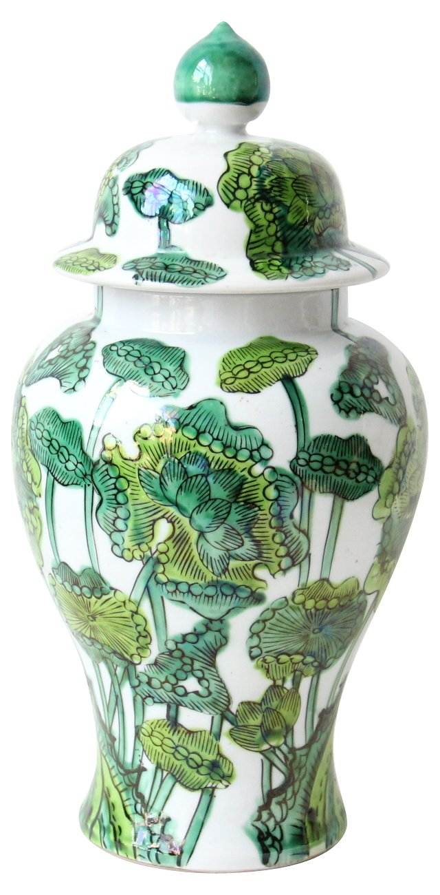 Green  Ginger Jar