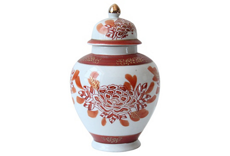 Hand-Painted Japanese Ginger Jar