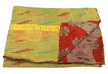 Bengali Kantha Printed Throw