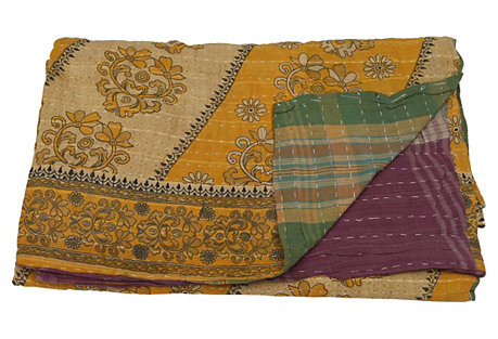 Bengali Kantha Printed Throw
