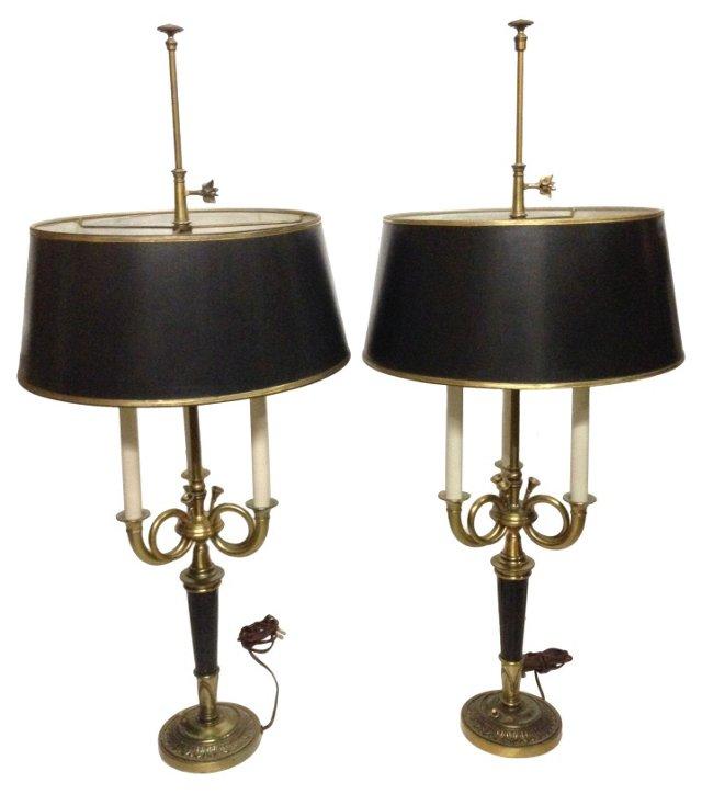 Bouillotte Lamps, Pair
