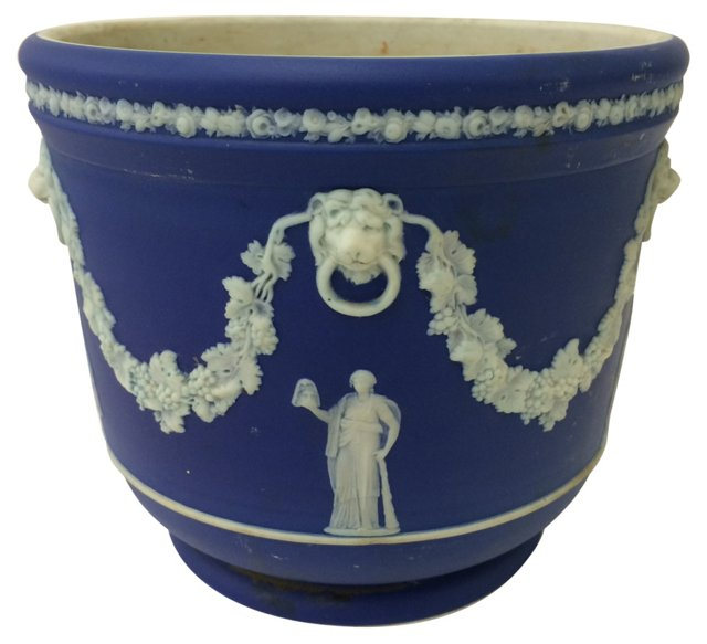 Wedgwood Dark Blue Cache Pot