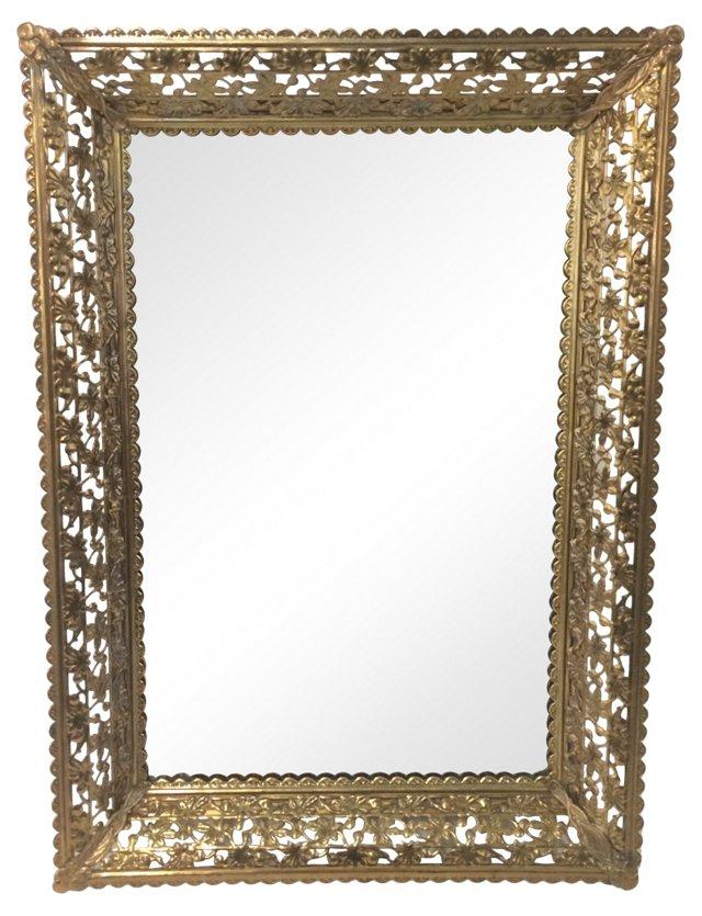 Filigree Standing Mirror