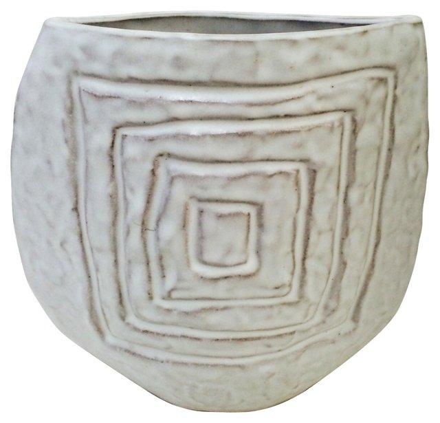White Slip Glaze Vase