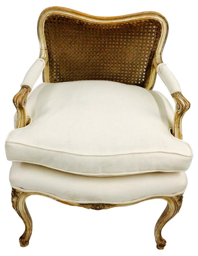 French-Style    Cane-Back Chair