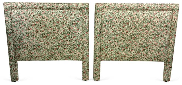 Upholstered Twin  Headboards, Pair