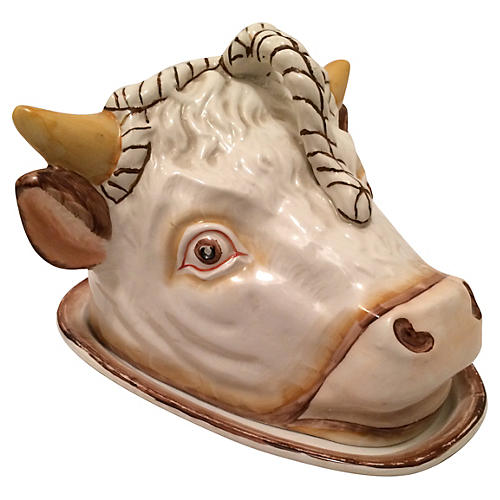 Staffordshire Bull's Head Cheese Server