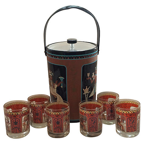 George Briard Egyptian Bar Set, S/7