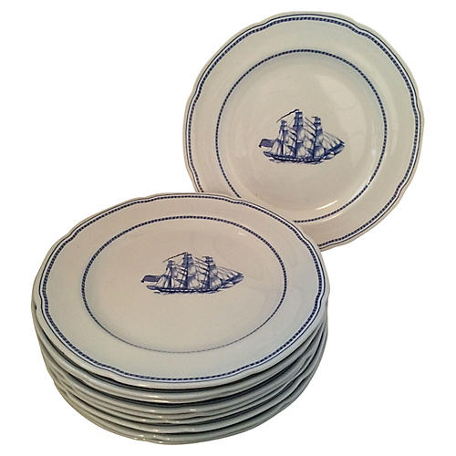 Spode Trade Winds Dinner Plates, S/10