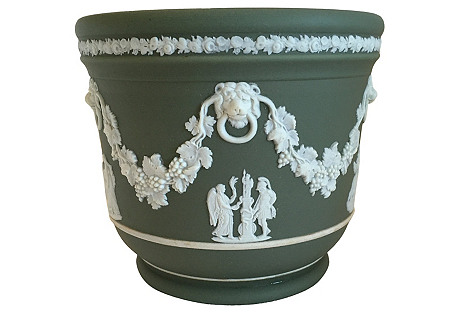 Wedgwood Green Cache Pot