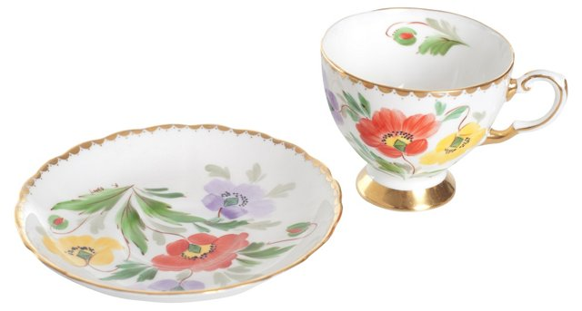 Tuscan Bone China Cup & Saucer