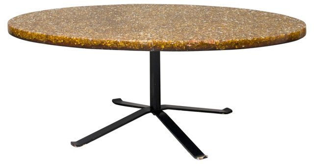 French 1970s Resin Coffee Table